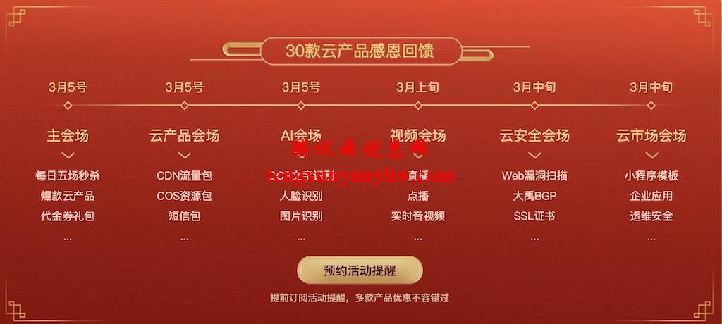 腾讯云新春采购季感恩回馈
