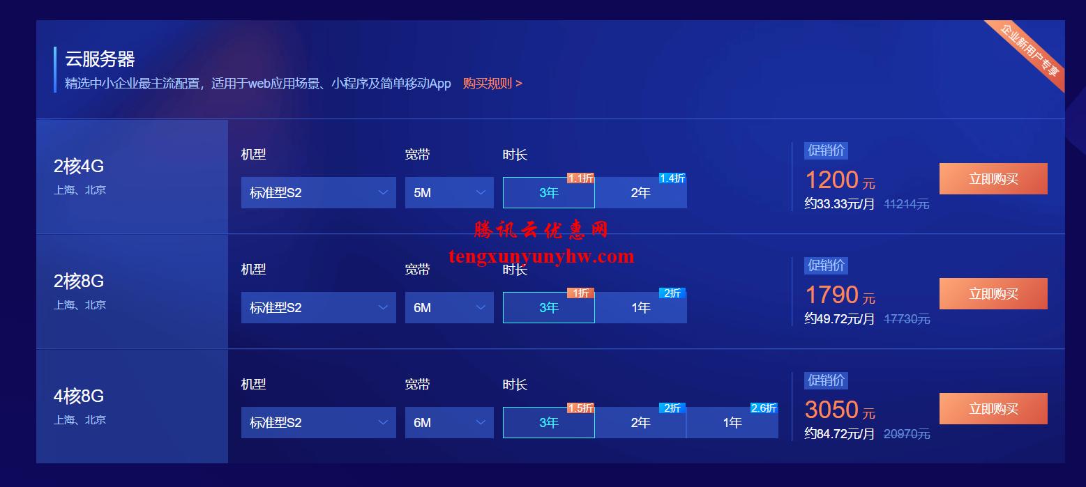腾讯云企业用户专享优惠